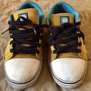 Element Shoes - ELEMENT CARNEGIE SK8 Yellow Blue SKATE Shoes Sz 12